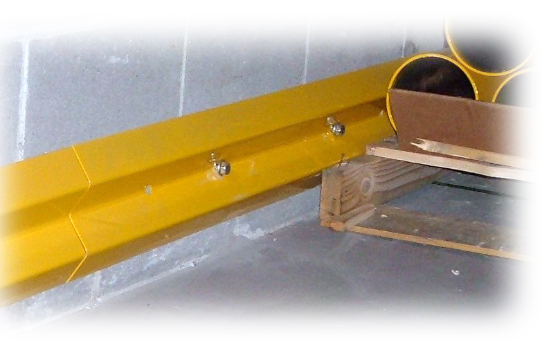 """Save""ty Yellow Stand Guard™ Wall Mounted Bumper Rail"