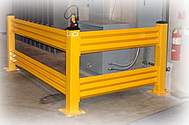 """Save""ty Yellow Stand Guard™ Guard Rail"
