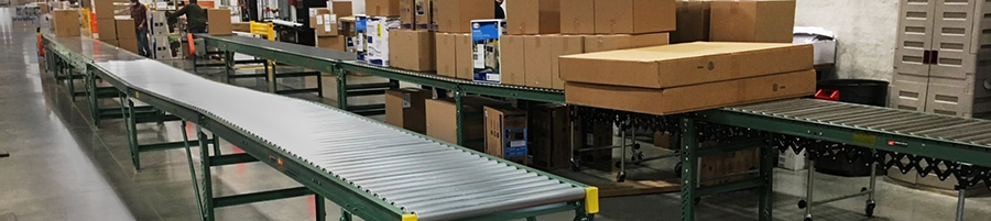 Dual conveyor lines for online shipping