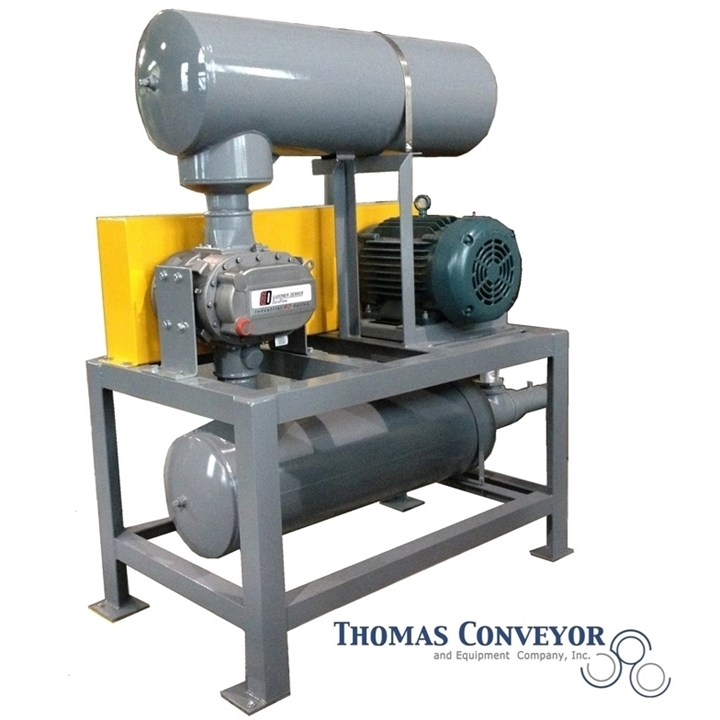 Pressure vacuum blower packages for pneumatic conveying to run your new blower at the correct airflow to create the optimal conveying velocity to maximize your bulk system capacity per hour requirements