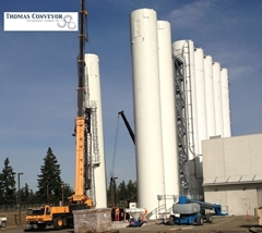 Dry Bulk Storage Silos storing powder bulk solids