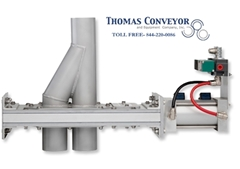 2 way wye line pneumatic conveying diverter valves Lorenz series d; vortex; Flour; Wheat; Corn; Starch;  Semolina; Plastic; Resin; Pellet; Lime; Limestone; Calcium; 2 way wye line pneumatic conveying diverter valves Lorenz series;