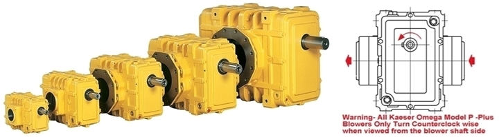 Kaeser-Omega-Blowers;-Models-21;-23;-42;-43;-62;-63;-Two-Lobe-Positive-Displacement-Blower;-Model-Omega-43;