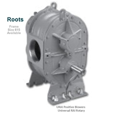 Roots URAI Universal RAI Rotary Positive Blowers Frame Size 615 is a key component in pneumatic conveying dry bulk powder handling systems