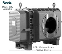Roots RCS J Whispair Rotary Positive Blowers Model 821J  is a key component in pneumatic conveying dry bulk powder handling systems