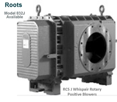 Roots RCS J Whispair Rotary Positive Blowers Model 832J is a key component in pneumatic conveying dry bulk powder handling systems