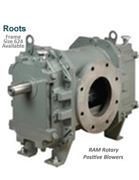 Roots Ram Rotary Positive Blowers Frame Size 624 is a key component in pneumatic conveying dry bulk powder handling systems