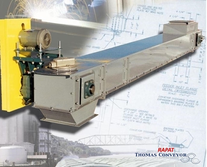 Rapat Bulk Handling Gerber Drag Conveyors are best used in dust tight environments that feature materials that are abrasive, hot, corrosive or high in density. This can include lime, coal, biomass, zinc, wood, ash, or other dry products in bulk