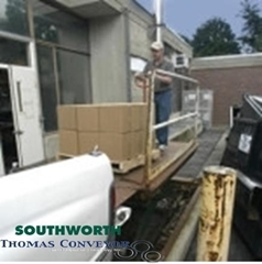 Southworth's Loading Dock Lifts eliminate the danger and space requirements associated with a ramp and they improve safety by eliminating manual handling of freight from the truck bed height to the ground