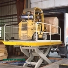 Dock Scissors Lifts are the best solution for loading or offloading trucks for a ground level application
