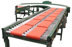The 24 volt motor driven roller conveyor uses a motorized roller that powers each zone or segment of the conveyor