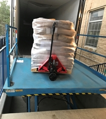 Dock lift leveler used to safely load and unload product from a truck