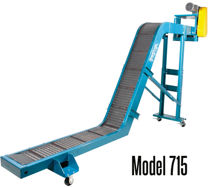 New London Engineering Model 715 Light Duty 1-1/2 Pitch Chip Conveyor can convey any type of metal scrap.