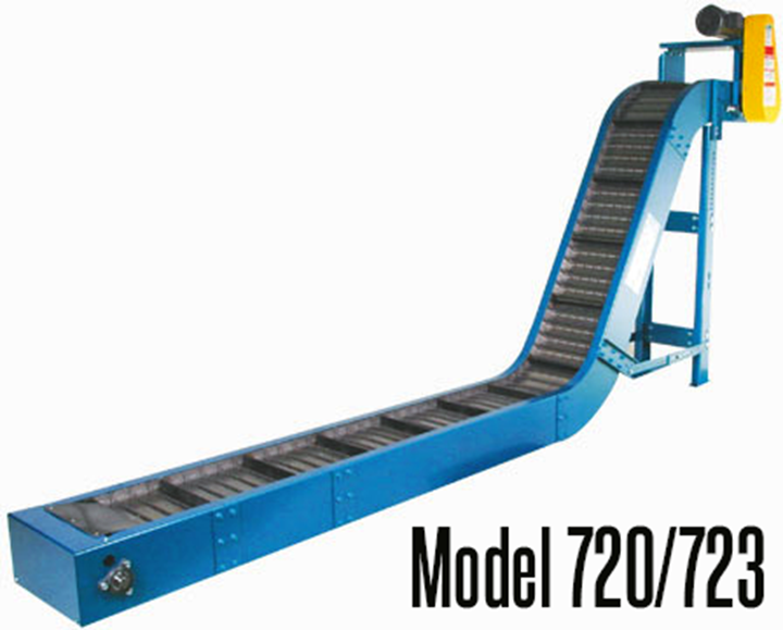 New London Engineering Model 720/723 Medium Duty Chip Conveyor can increase your machining productivity with automated chip removal that safely eliminates waste