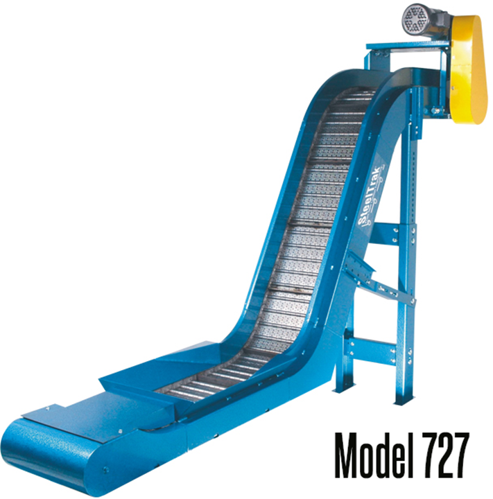 New London Engineering Model 727 SteelTrak™ Tapered Infeed – Cold Header Conveyor is versatile for cold heading, dies, machining, presses and parts handling operations