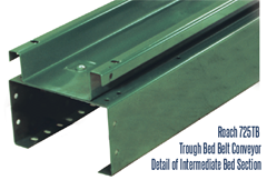 Roach 725TB Trough Bed Belt Conveyor, Detail of Intermediate Bed Section
