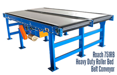 Roach 751RB Heavy Duty Roller Bed Belt Conveyor conveyors heavy duty unit or case loads (Double conveyor shown)