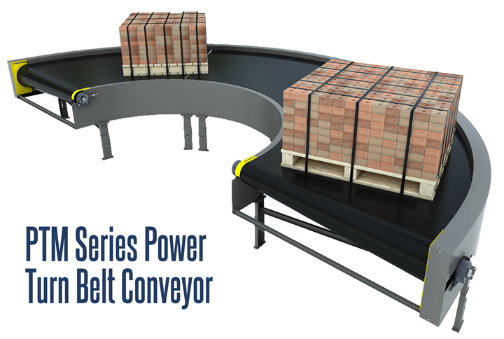 PTM Series Power Turn Belt Curve Conveyor is a curved conveyor available in Standard, Heavy Duty and Lightweight configurations to meet every need.
