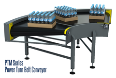 PTM Series Power Turn Belt Curve Conveyor offer long life, flexibility and rugged construction.