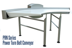 PRN Series Power Turn Belt Conveyor is designed to conveyor small, delicate or fragile items