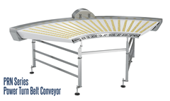 PRN Series Power Turn Belt Conveyor showcases small dynamic pinch nose rollers