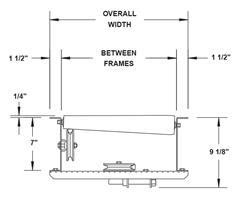 Top View Schematic of Roach Model 196LRCS