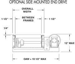 Optional Side Mounted End Drive Schematic, Roach Model 196LRCS