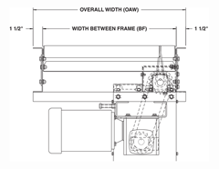 Roach Model 738LSC Line Shaft Curve Top View Schematic