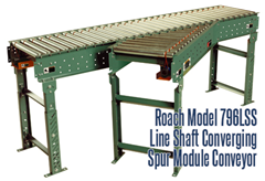 Picture for Line Shaft Converging Spur Module Conveyor, Roach Model 796LSS
