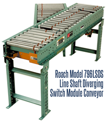 Picture for Line Shaft Diverging Switch Module Conveyor, Roach Model 796LSDS