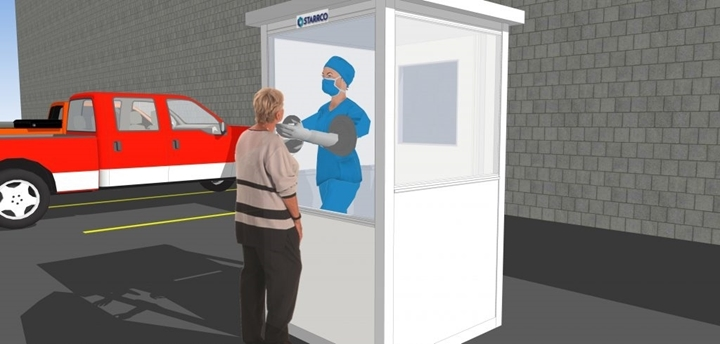 Portable Swab/Screening Room for indoor or outdoor use