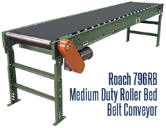 Picture for Medium Duty Roller Bed Belt Conveyor, Roach Model 796RB