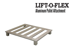 LIFT-O-FLEX™ Aluminum Pallet Extension can either be used as a workstation or a turntable for wooden pallets.