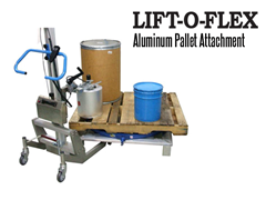 The LIFT-O-FLEX™ Aluminum Pallet Extension has dual uses: as a workstation or a turntable.