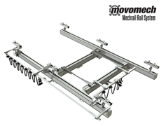 The Movomech™ Mechrail™ aluminum crane system is a fully customizable, ceiling mount crane system with a wide variety of end effectors and tooling for ergonomic lifting in warehouses, manufacturing and logistics operations.