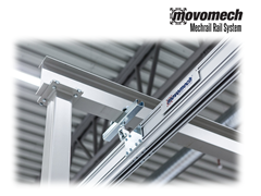 The Mechrail™ crane system consists of extruded aluminium rails which trolleys, suspensions and accessories are mounted.