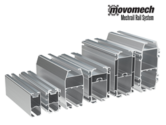 The Movomech™ Mechrail™ Aluminum Rails come in a variety of sizes and strengths to accommodate ergonomic lifting requirements of all sizes.