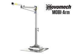 MobiArm™ is an ergonomic articulated jib crane that can be adapted to each individual workplace, with a reach of up to 13 feet, and a height-adjustable floor pillar.
