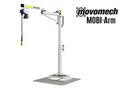The Movomech™ MOBI-Arm's has a wide variety of end effectors and manipulators to customize the lifter. Common tools includes hoists, mechanical and magnetic tools, as well as pneumatic and vacuum tools. Thomas Conveyor & Equipment is a happy to provide you a custom solution for your application.