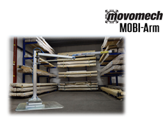 Movomech™ MOBI-Arm's™ articulating arm is available in 6.6', 8.2', 10', 11.6', and 13.1' lengths