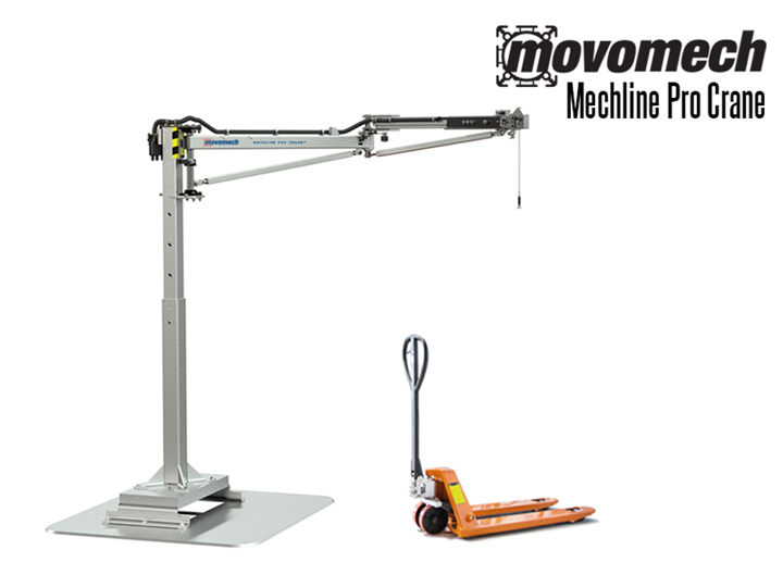 The Mechline Pro Crane ™ is an articulated jib crane with an integrated pneumatic balancer