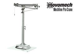 The Mechline Pro Crane™ is a versatile articulated jib crane with a reach of up to 13', and a height-adjustable floor pillar.