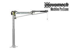 The air supply is integrated into the articulating arm and allows air to be fed to an attached pneumatic end effector.