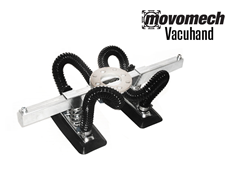 The RonI Vacuhand is an attachment that can be used on the Movomech™ Rail or Crane system, and comes with various end effectors.