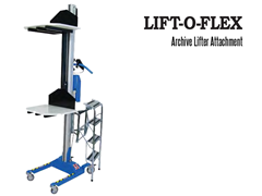 LIFT-O-FLEX™ Archive Lifter Attachment. Contact a Thomas Conveyor ergonomic engineer to find out which end effectors would provide the optimal solution to your ergonomic lifting application.
