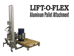 LIFT-O-FLEX™ Aluminum Pallet  Attachment.  Contact a Thomas Conveyor ergonomic engineer to find out which end effectors would provide the optimal solution to your ergonomic lifting application.