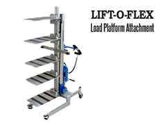 LIFT-O-FLEX™ Load Platform Attachment. Contact a Thomas Conveyor ergonomic engineer to find out which end effectors would provide the optimal solution to your ergonomic lifting application.