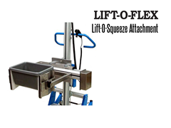 LIFT-O-FLEX™ Lift-O-Squeeze™ Attachment. Contact a Thomas Conveyor ergonomic engineer to find out which end effectors would provide the optimal solution to your ergonomic lifting application.