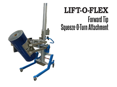 LIFT-O-FLEX™ Forward Tip Squeeze-O-Turn™ Attachment. Contact a Thomas Conveyor ergonomic engineer to find out which end effectors would provide the optimal solution to your ergonomic lifting application.