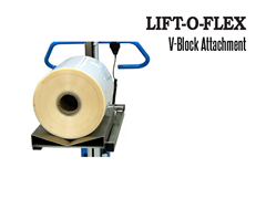 LIFT-O-FLEX™ V Block Attachment. Contact a Thomas Conveyor ergonomic engineer to find out which end effectors would provide the optimal solution to your ergonomic lifting application.